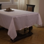 Покривка за маса Маргаритки - бял