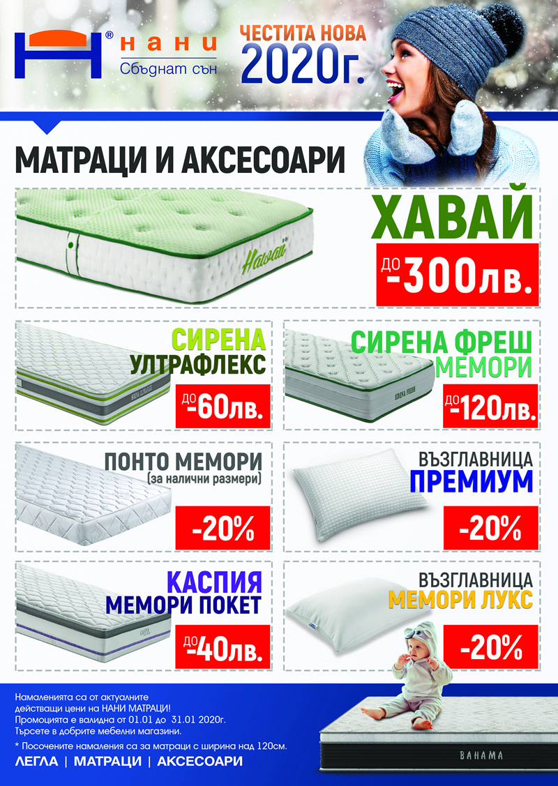 матраци НАНИ 01.2020