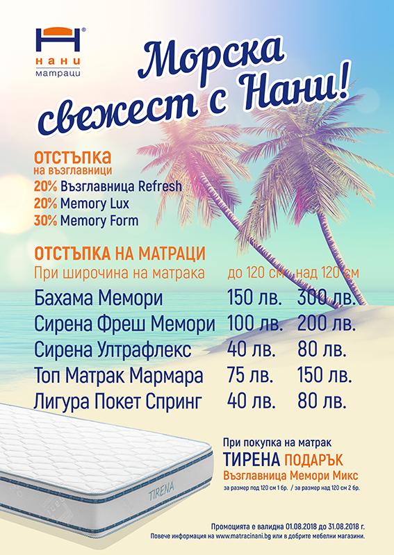 матраци НАНИ 08.2018