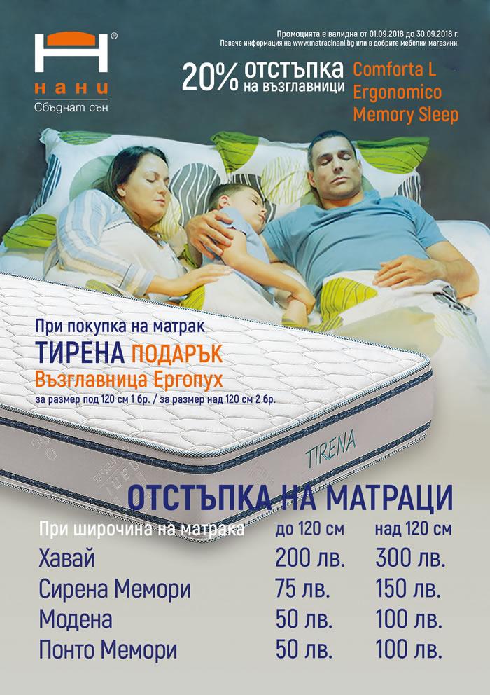 матраци НАНИ 09.2018