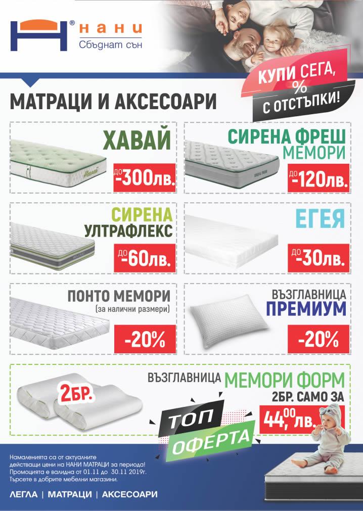 матраци НАНИ 11.2019