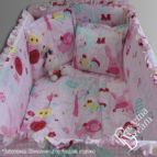 Бебешко спално бельо - Каре в розово