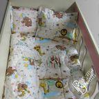 Бебешки к-т с олекотена завивка Зоопарк в Бежoво