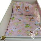 Бебешко спално бельо - Приятели в розово