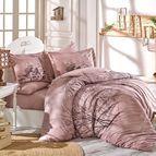 Спално бельо памук поплин - MARGHERITA KAHVE
