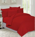 Едноцветно спално бельо Червено