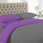 двуцветно спално бельо - лилаво-сиво