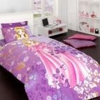 Детски комплект с олекотена завивка Принцеса лила