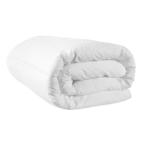 Зимна олекотена завивка микрофибър Флорал - бяло