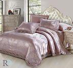 Луксозно спално бельо жакард и дантела Алекса - лила