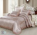 Луксозно спално бельо жакард и дантела Алекса - капучино