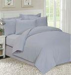 Едноцветно спално бельо Сиво