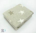 БЕБЕШКО памучно одеяло - звезди бежаво