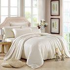 Спално бельо памучен сатен - бяло