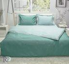 Спално бельо памучен сатен - Тъмно Зелено и Светло Зелено