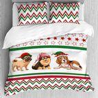 Лимитирана колекция коледно спално бельо - Коледни Кучета
