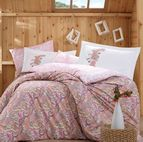 Спално бельо памук поплин - GUILIA PEMBE