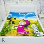 Детска завивка памучен сатен - Маша и Мечока