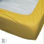 Чаршаф памучен сатен с ластик - Жълто