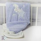 БЕБЕШКО одеяло с апликация - Доди синьо