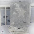 БЕБЕШКО одеяло с апликация - Доди сиво