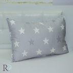 Калъфка памучен сатен Звезди - Сиво