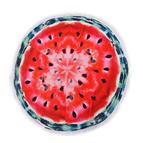 Плажна кърпа с ресни DF печат Ф150 - Диня