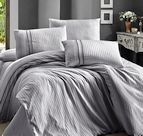 Луксозен спален комплект памучен сатен Deluxe - SQUARE STYLE GRI