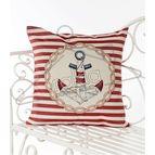 Испанска декоративна възглавница с цип - КОТВА ЧЕРВЕНО