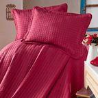 Луксозна кувертюра жакард Evim Home Sore Box - бордо
