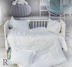 Бебешко спално бельо - Маймунки с Бродерия Бели