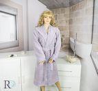 Халат за баня с качулка Алана - Лила