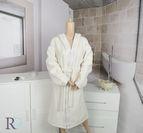 Халат за баня с качулка Тони - Крем