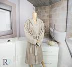Халат за баня с качулка Тони - Кафяво