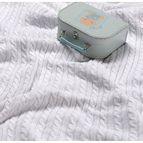 Испанско плетено одеяло LLUVIA - БЯЛО