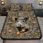 3Dспално бельо с ловджийски мотиви - Wild boar