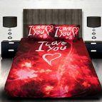 3Dспално бельо Романтични - I LOVE YOU