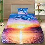 3Dспално бельо с Животни - Залез с делфини