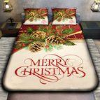 Коледно 3D спално бельо - MERRY CHRISTMAS BRANCH