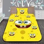 Детско 3D спално бельо - Sponge Bob The Cheerful Sponge