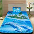 Детско 3D спално бельо - Делфини