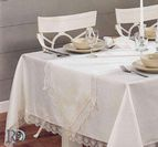 Покривка за маса Катеринa - бяло