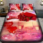 3Dспално бельо Романтични - Шампанско
