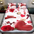3Dспално бельо Романтични - Сърце