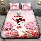 3Dспално бельо Романтични - Влюбена двойка