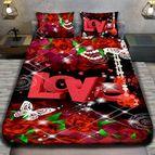 3Dспално бельо Романтични - LOVE RED