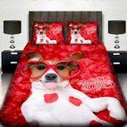 3Dспално бельо Романтични - Джак ръсел