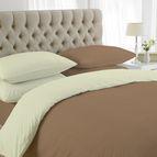 двуцветно спално бельо - екрю-бежово