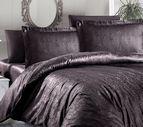 Луксозен спален комплект памучен сатен, жакард - ATHENA KAHVE