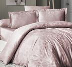 Луксозен спален комплект памучен сатен, жакард - HERRA PUDRA